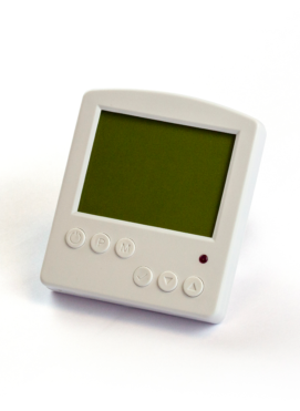 White Push Button Thermostat